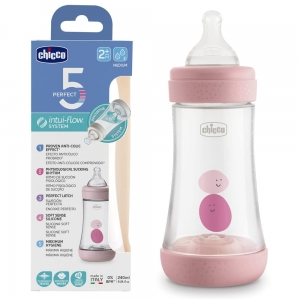 Chicco Butelka antykolowa Perfect5 240ml Girl 2m+