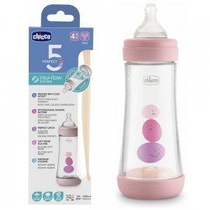 Chicco Butelka antykolowa Perfect5 300ml Girl 4m+
